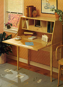 Woodworking Plans - Make a compact SECRETARY DESK | eBay