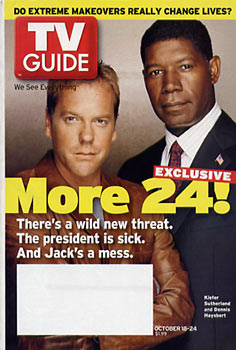 TV Guide - Kiefer Sutherland & Dennis Haysbert 24 (2003)